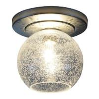 Bruck Lighting Bobo 1 Matte Chrome LED Ceiling Mount with Clear Artisan Glass