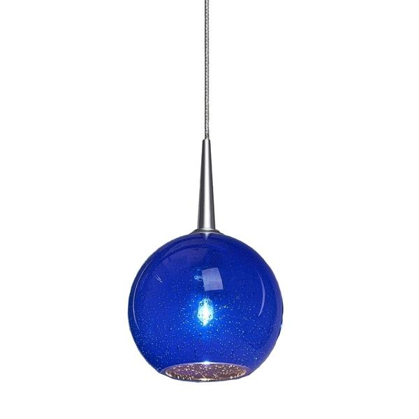 Bruck Lighting Bobo Blue Glass Pendant