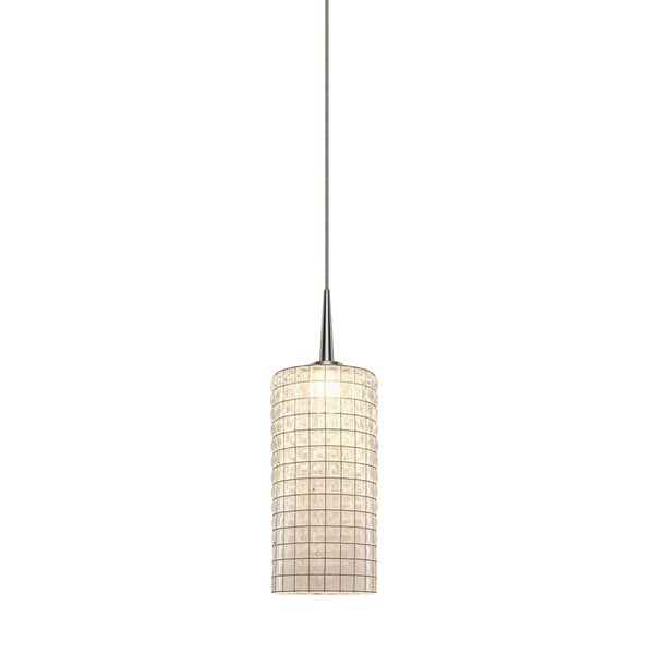 Bruck Lighting Sierra Matte Chrome LED Pendant with Clear Artisan Glass, Metal - Silver