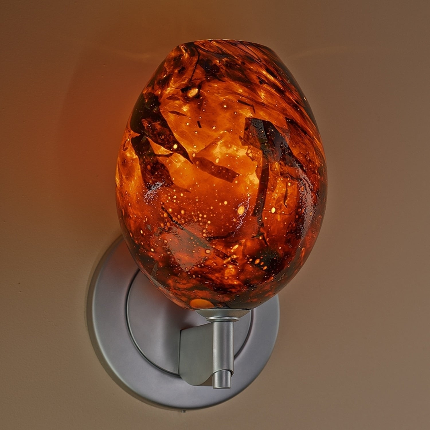 Bruck Bolero Matte Chrome Low Voltage Wall Sconce with Au...