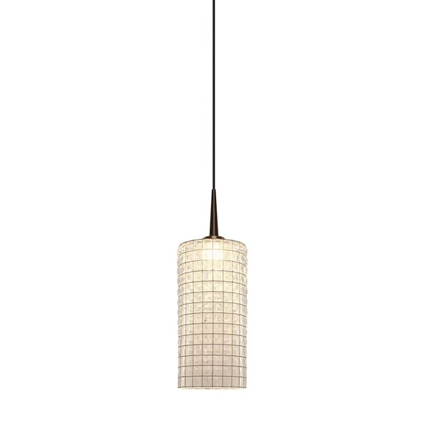 Bruck Lighting Sierra Bronze Metal/Clear Artisan Glass LED Pendant