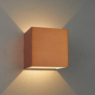 Bruck Lighting QB Copper/White Inner LED Wall Sconce