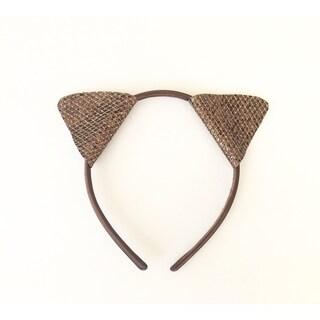Glitter Brown Cat Ear Headband