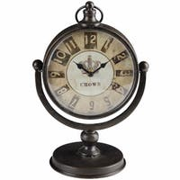 Antique Table Clock, Metallic Brown