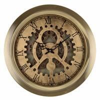 Metallic Gold Wall Clock