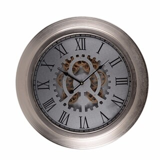 Metallic Wall Clock, Metallic Grey - metallic gray