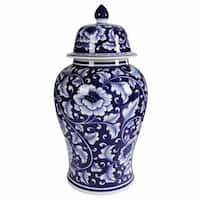 Bold Floral Impressive Jar with Lid