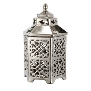Compact Silver Lantern With A Beautiful Lid