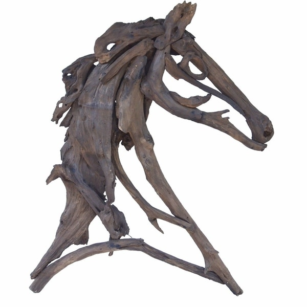 Stylish Equus Figure, Teak Branches