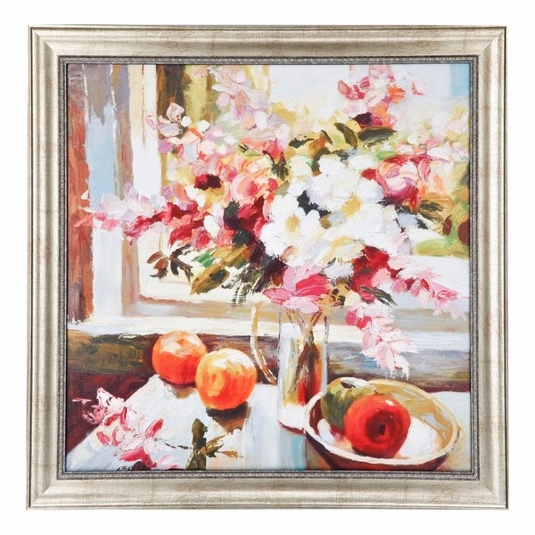 Shop Floral Wall Art Framed Beautifully, Multi Color - Free Shipping ...