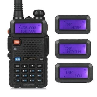 BaoFeng UV-5RTP Tri-power Two-Way Radio Transceiver (Pack of 2)+ Programming Cable (1 Piece)
