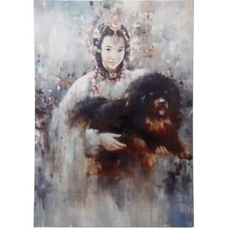 Beautiful Girl and Puppy Wall Art