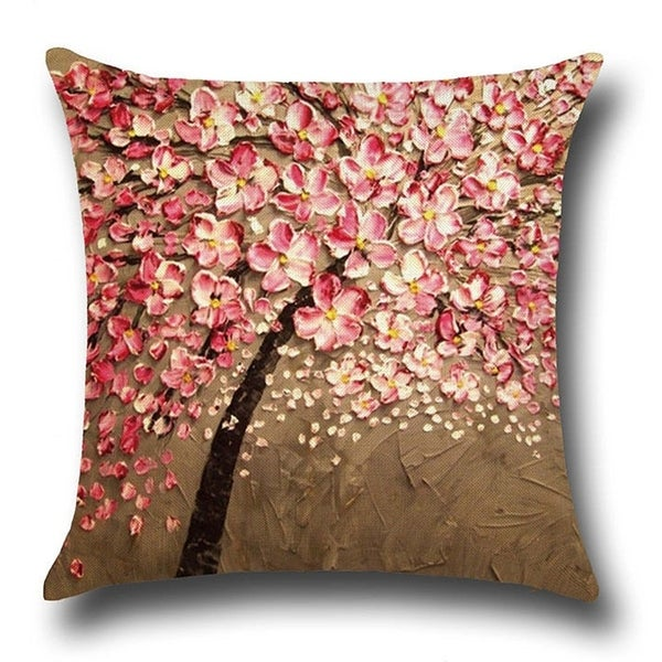 Shop Cotton Linen Throw Pillow Cover Cushion Cover Peach