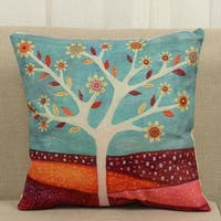 Cotton Linen Throw Pillow Cover  Cushion Cover Magma 18x18