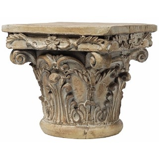 Shop Three Hands Brown Resin Pedestal Free Shipping