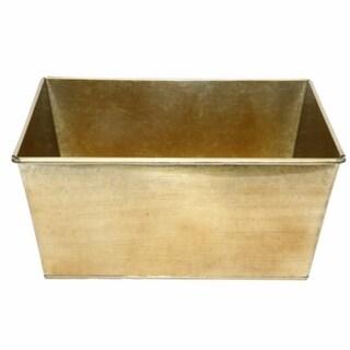 Rectangular Gold Finish Container
