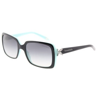 Link to Tiffany & Co. Rectangle TF 4047B 80553C Womens Top Black on Azure Frame Grey Gradient Lens Sunglasses Similar Items in Women's Sunglasses