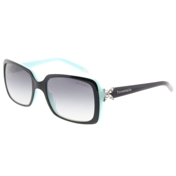 42e7b92e46 Tiffany  amp  Co. Rectangle TF 4047B 80553C Womens Top Black on Azure Frame  Grey