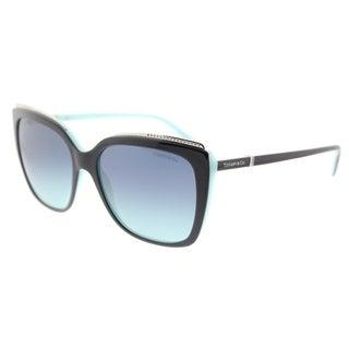 Tiffany & Co. Square TF 4135B 80559S Womens Black on Blue Frame Azure Gradient Lens Sunglasses