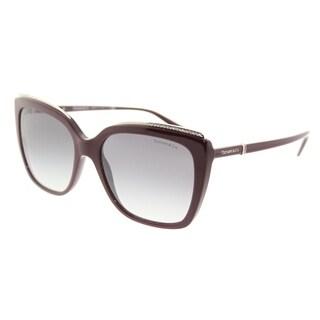 Tiffany & Co. Square TF 4135B 81813C Womens Dark Cherry Frame Grey Gradient Lens Sunglasses