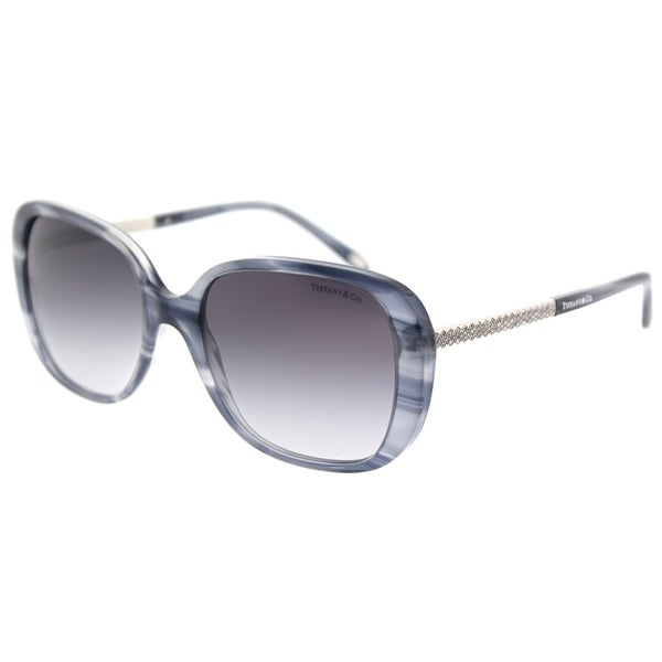 26ece1c032 Tiffany  amp  Co. Square TF 4137B 82293C Womens Marble Grey Frame Grey  Gradient Lens