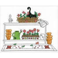 Garden Cat Counted Cross Stitch Kit