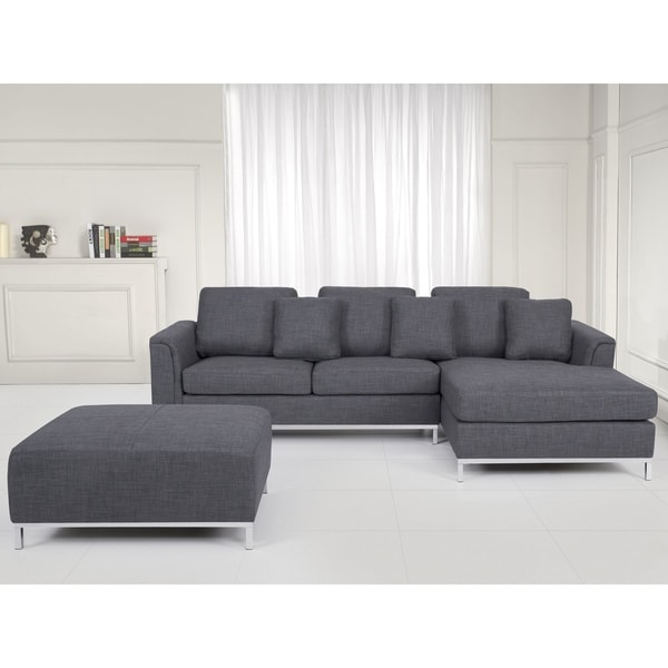 Sectional Sofa with Ottoman L - Gray OSLO