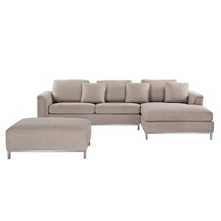 Etonnant Sectional Sofa With Ottoman L   Beige OSLO