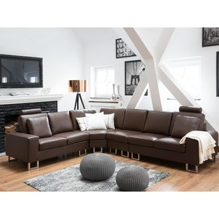 Leather Sectional Sofa - Brown STOCKHOLM