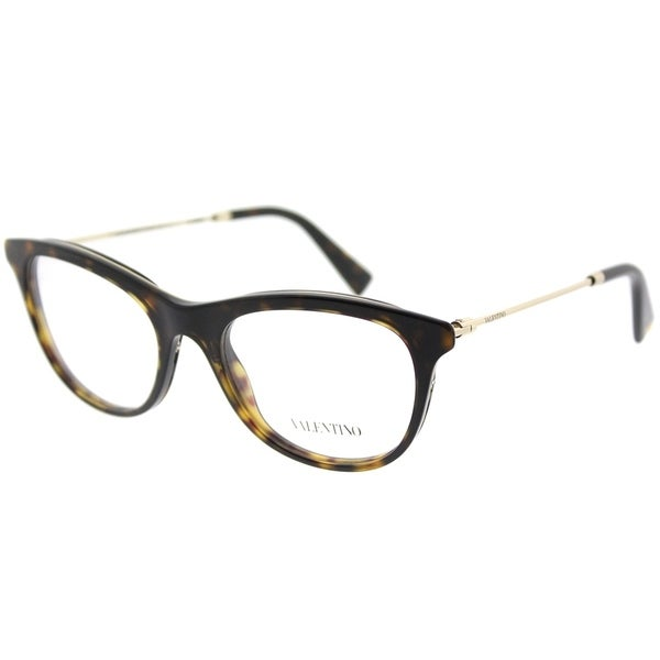 Shop Valentino Oval VA 1006 3021 Womens Havana Light Gold Frame ...