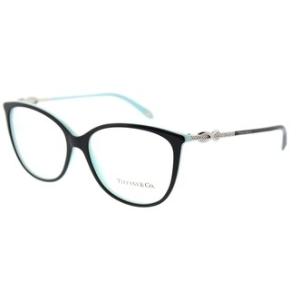 Tiffany & Co. Oval TF 2143B 8055 Womens Black on Blue Frame Eyeglasses