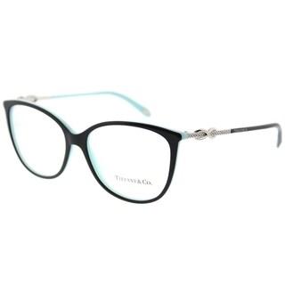 Tiffany & Co. Oval TF 2143B 8055 Womens Black on Blue Frame Eyeglasses