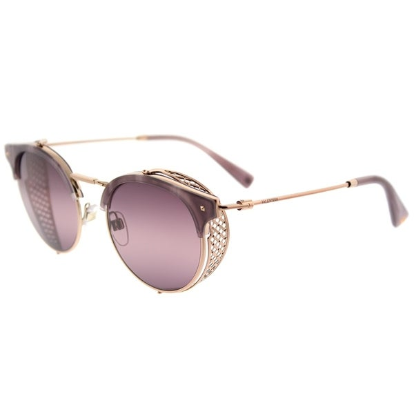 a18bd050c3a Valentino Round VA 2008Z 3004W9 Womens Shiny Rose Gold Frame Pink  Bi-Gradient Purple Lens
