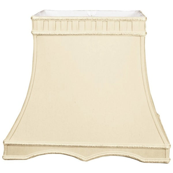 Royal Designs Rectangle Gallery Designer Lamp Shade, Beige, (9.5 x 7.5) x (14 x 9.5) x 12.25