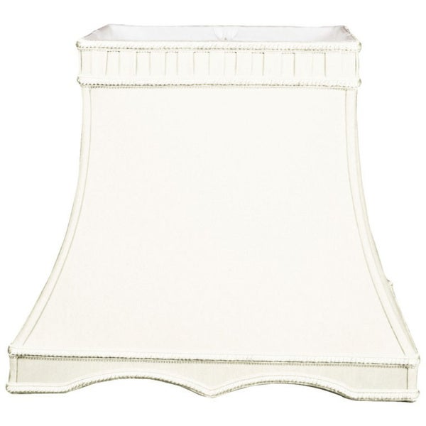 Royal Designs Rectangle Gallery Designer Lamp Shade, White, (8 x 6) x (12 x 8) x 11