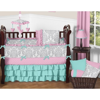 sweet jojo designs skylar collection 9piece crib bedding set as is item