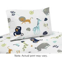 Twin Sheet Set for the Mod Jungle Collection by Sweet Jojo Designs