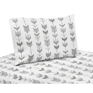 Twin Sheet Set for the Grey and White Woodsy Collection by Sweet Jojo Designs