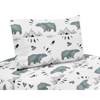 Queen Sheet Set for the Bear Mountain Collection by Sweet Jojo Designs