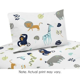 Queen Sheet Set for the Mod Jungle Collection by Sweet Jojo Designs