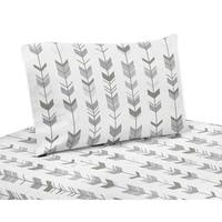 Twin Sheet Set for the Grey and White Mod Arrow Collection by Sweet Jojo Designs