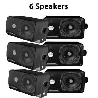 Pyle PLMR24B-3 3.5'' 200 Watt 3-Way Weather Proof Mini Box Speaker System (Black) 3 Pack https://ak1.ostkcdn.com/images/products/18131598/P24283676.jpg?impolicy=medium