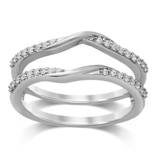 Unending Love 14k White Gold 1/5ct TDW Diamond Wedding Enhancer Set