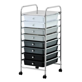 Furinno Wayar 8-Drawer Trolley, Rainbow, WS17186RB (2 options available)