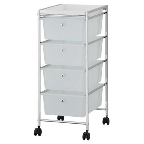 Furinno Wayar 4-Drawer Storage Cart, WS17304