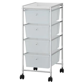 Furinno Wayar 4-Drawer Storage Cart, WS17304