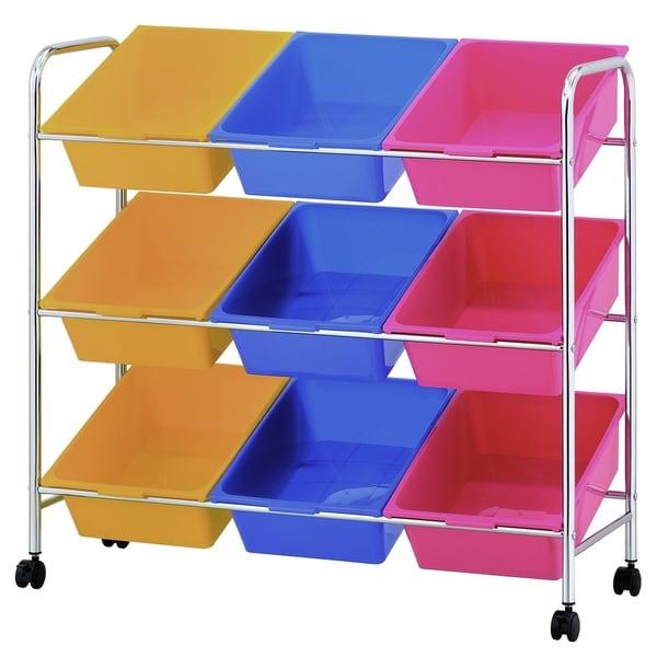 Superieur Furinno Wayar 9 Bin Storage Cart, WS17115