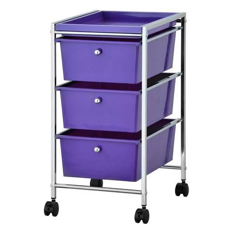 Porch & Den Copeland 3-drawer Storage Cart