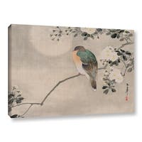 School Japanese's Japanese Silk Painting of a Wood Pigeon 1800 1899, Gallery Wrapped Canvas