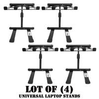 PLPTS55 Universal Portable Foldable Telescoping Height Professional DJ Laptop Stand (Lot of 4)